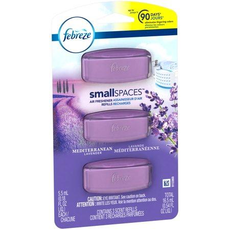 Febreze Small Spaces Mediterranean Lavender Air Freshener Refills ...