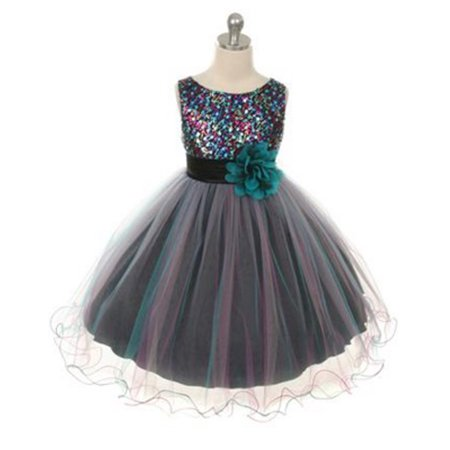 Sparkly Dresses For Kids (Efavormart Sparkly Sequin and Double Mesh Chiffon Girls Dress Birthday Girl Dress Junior Flower Girl Wedding Party Gown Girls)