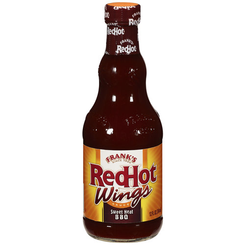 Frank's RedHot Sweet Heat BBQ Wings Sauce, 12 fl oz