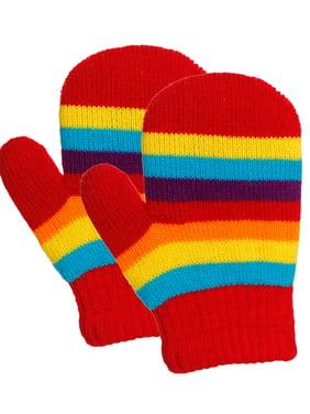 Emmalise Children Kids Winter Cold Weather Winter Knit Gloves - 3 - 8 yrs Old