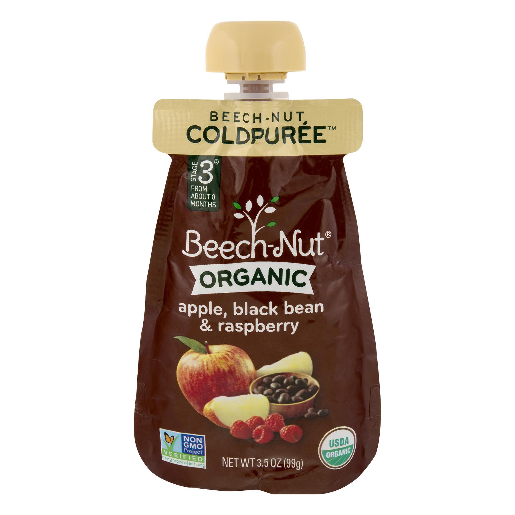 Beech-Nut Organic Stage 3 Apple, Black Bean & Raspberry, 3.5 oz Pouch