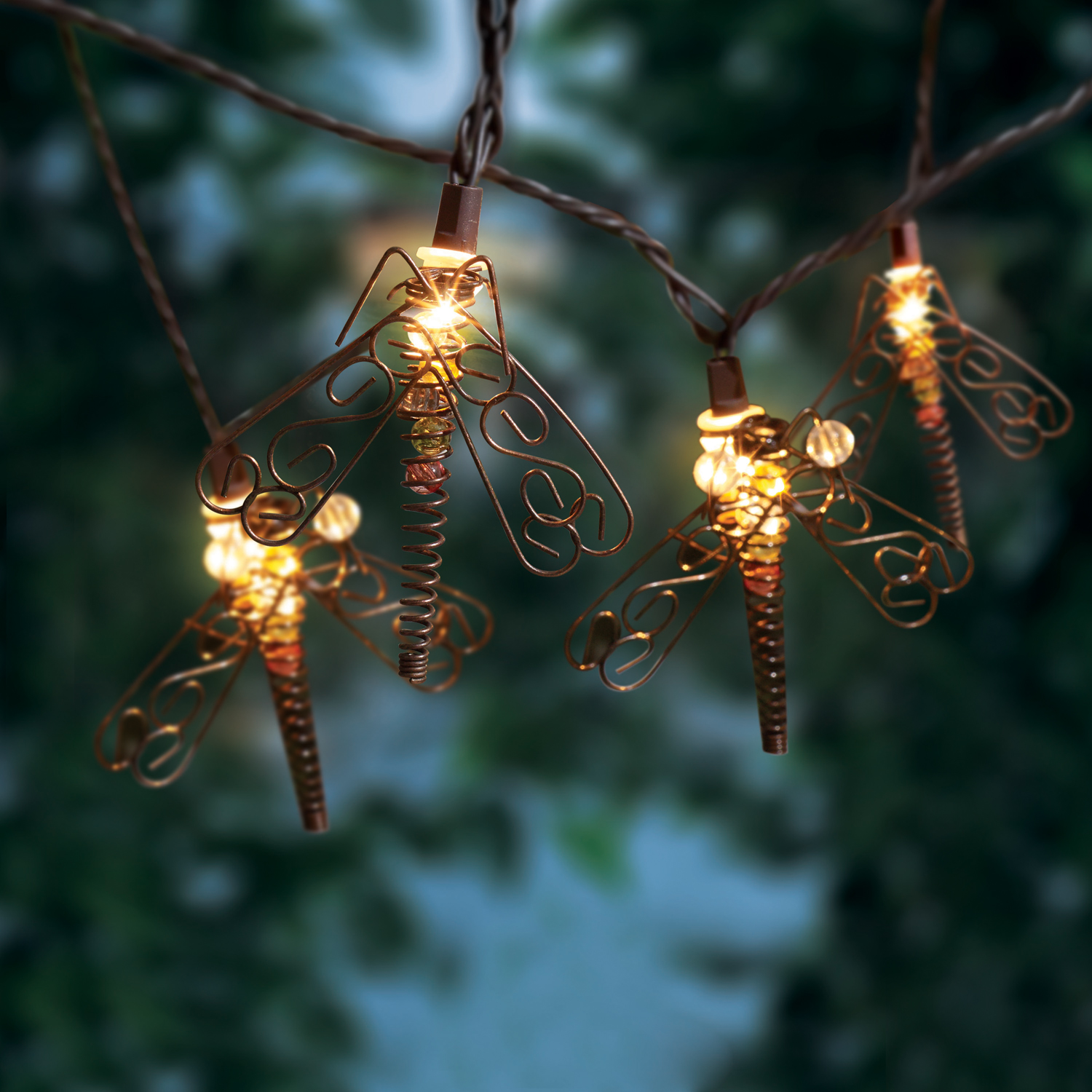 10ct String to String Metal Dragonfly Light Set