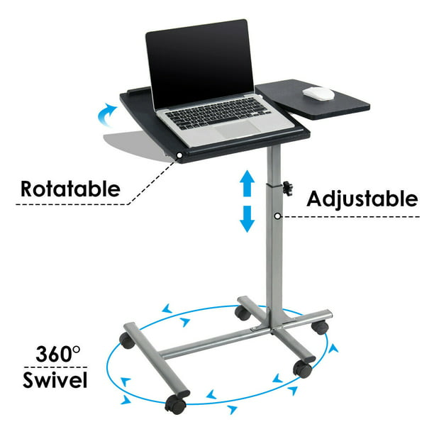 Height Rolling Laptop Notebook Desk