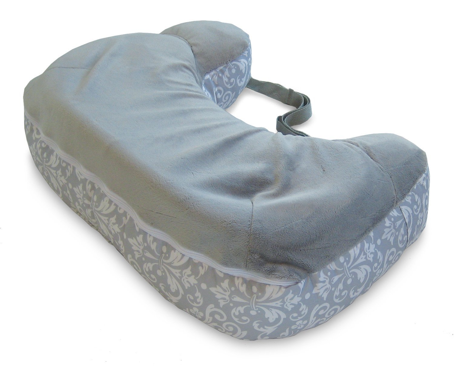 Boppy Two-Sided Breastfeeding Pillow, Kensington Gray by Boppy