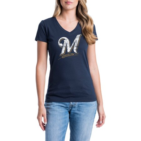Milwaukee Brewers Womens Short Sleeve Graphic Tee