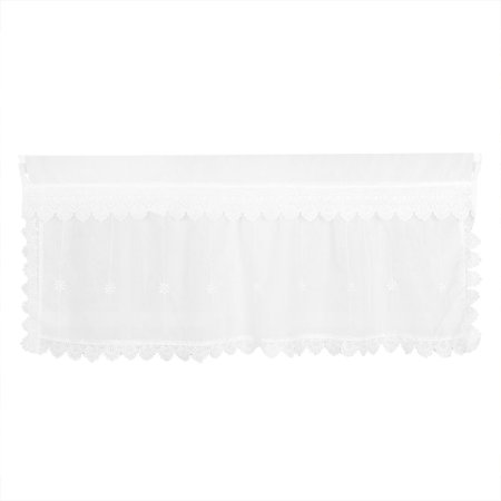 47 Inch Raised Panel - Polyester Flower Printed Blackout Curtain Door Window Valance 47 Inch x 20 Inch