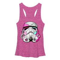 Star Wars Women's Stained Glass Stormtrooper Racerback Tank Top