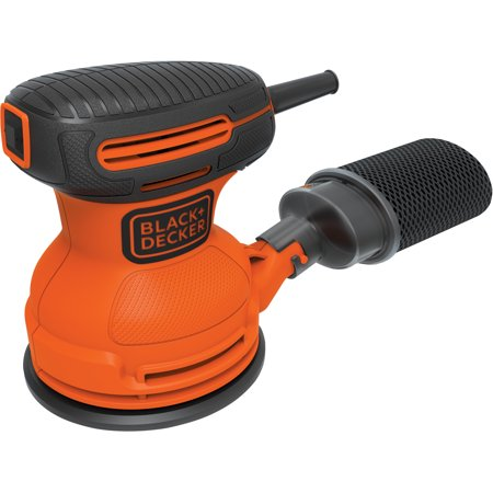 BLACK+DECKER Random Orbit Sander With Bonus Sandpaper, BDERO100VA