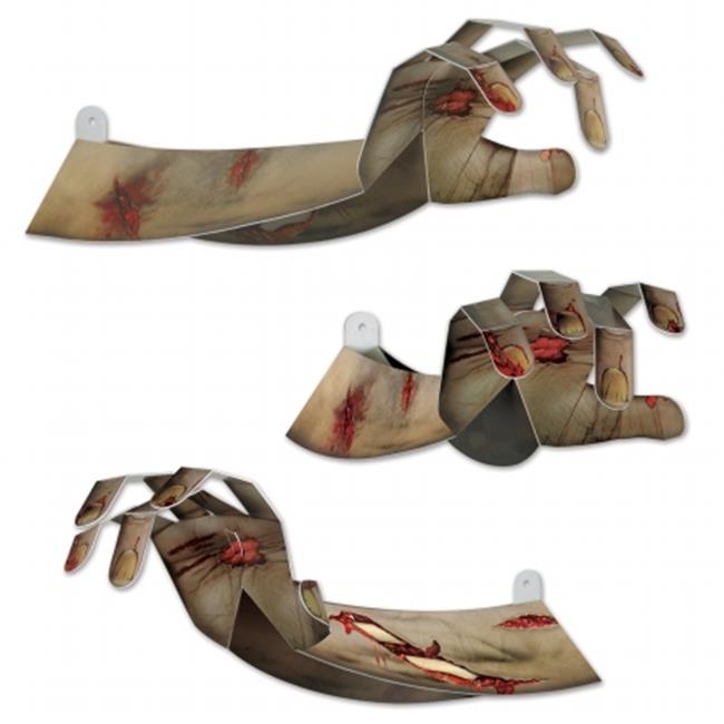 Beistle Company 00195 3-D Zombie Hands