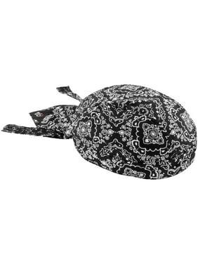 Zan Headgear Flydanna Headwrap Paisley Black (Black, OSFM)