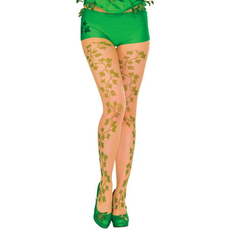 Poison Ivy Women's Pantyhose Halloween Accessory, One Size - Halloween Poison Labels
