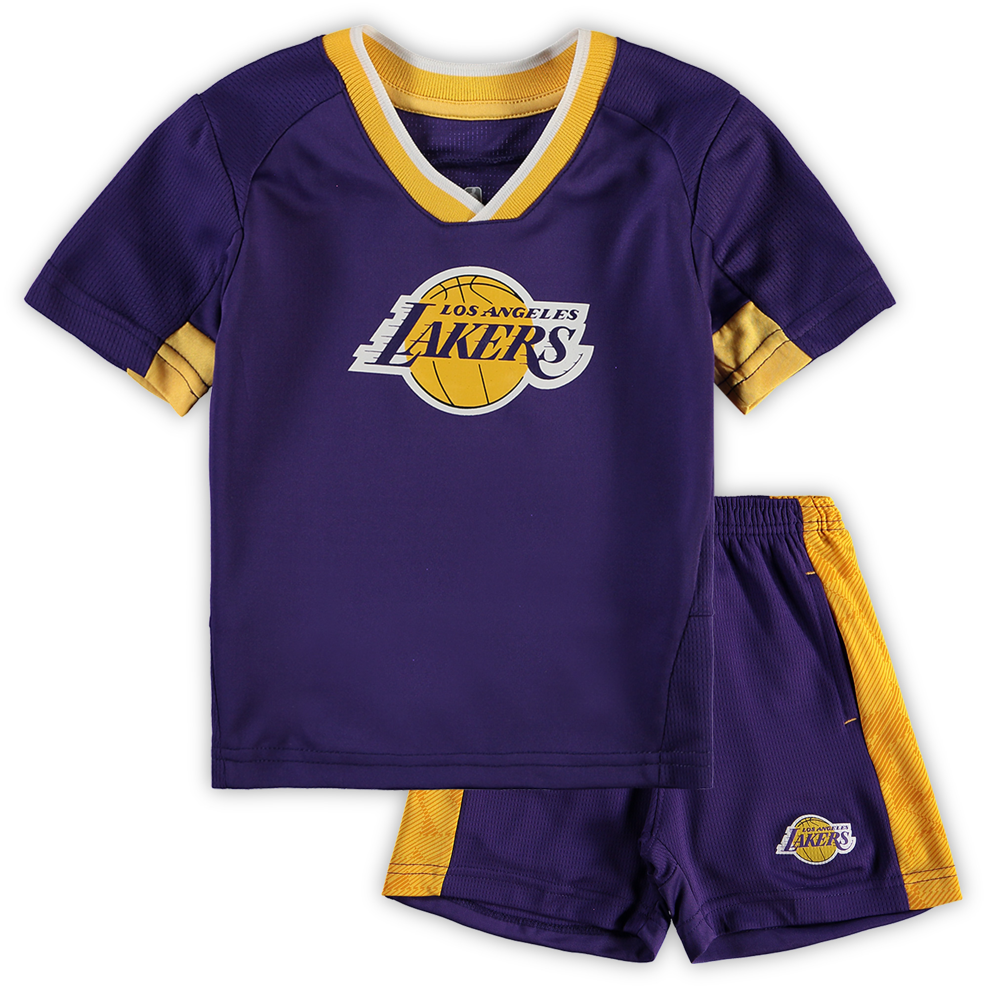 Los Angeles Lakers Preschool & Toddler Double Dribble T-Shirt & Shorts Set - Purple