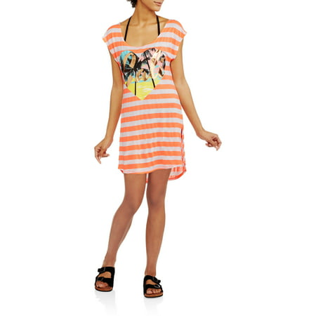 OP Juniors' Striped Crossback Swim Cover-Up
