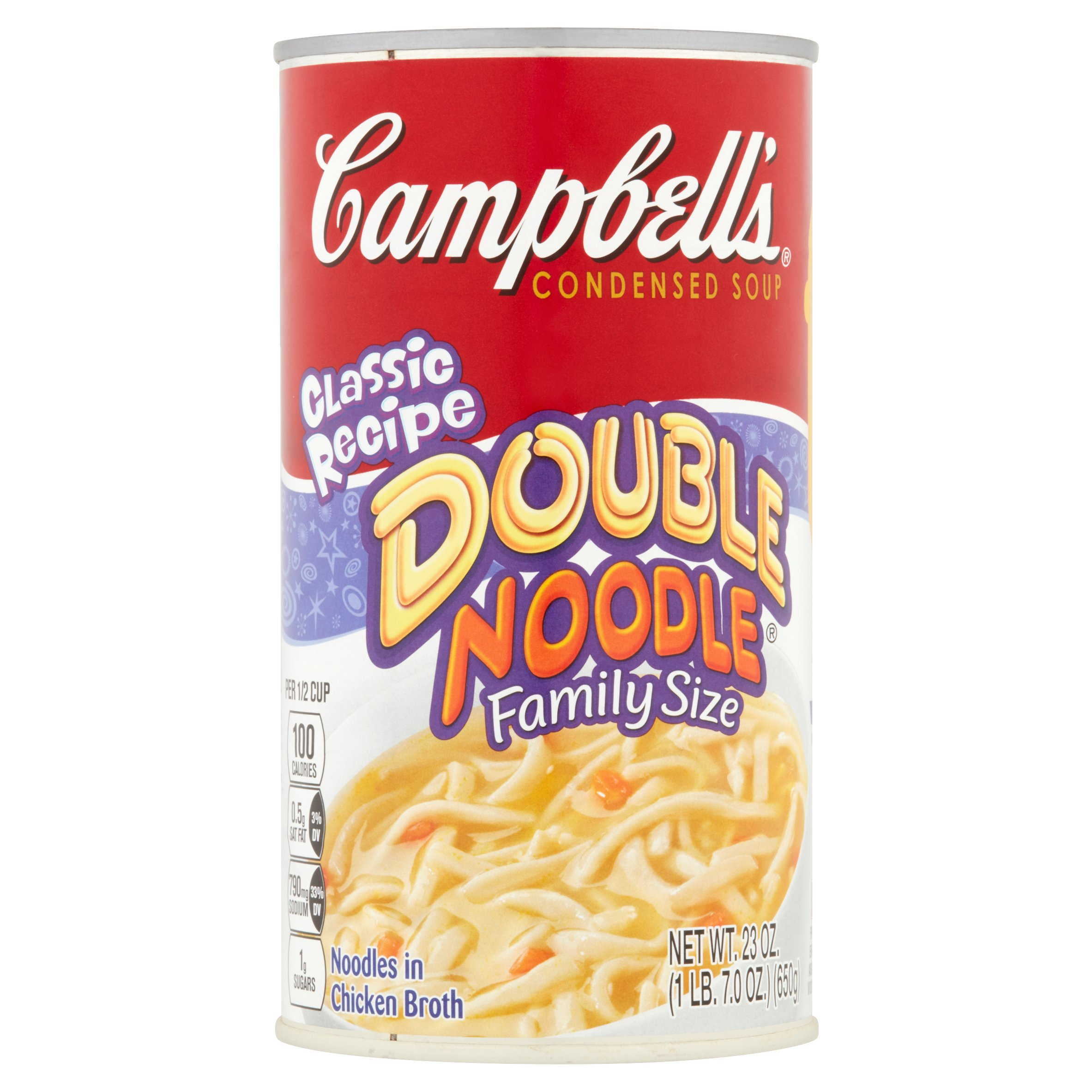 Campbell's Family Size Classic Recipe Double Noodle Condensed Soup, 23 oz