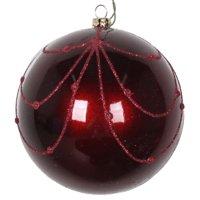 "4"" Wine Candy Glitter Curtain Ornament 4/Bag"