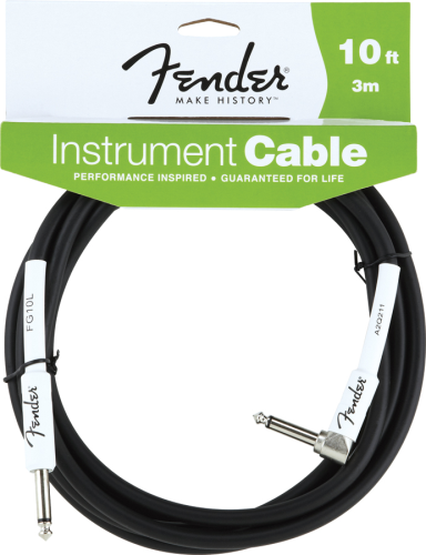 Fender 10' 3M Angle Instrument Cable Black by Fender