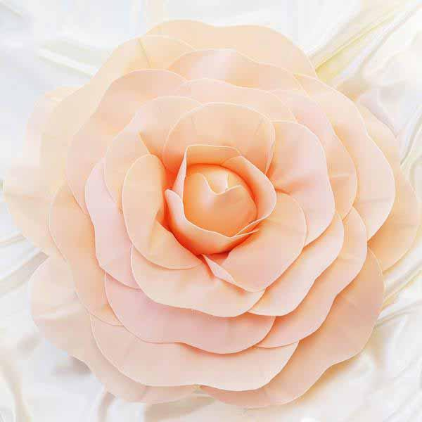 "Efavormart 20"" Real Touch  Artificial Foam 3D Craft Rose for DIY Wedding Bouquets Centerpieces Arrangements Party Home Decorations"