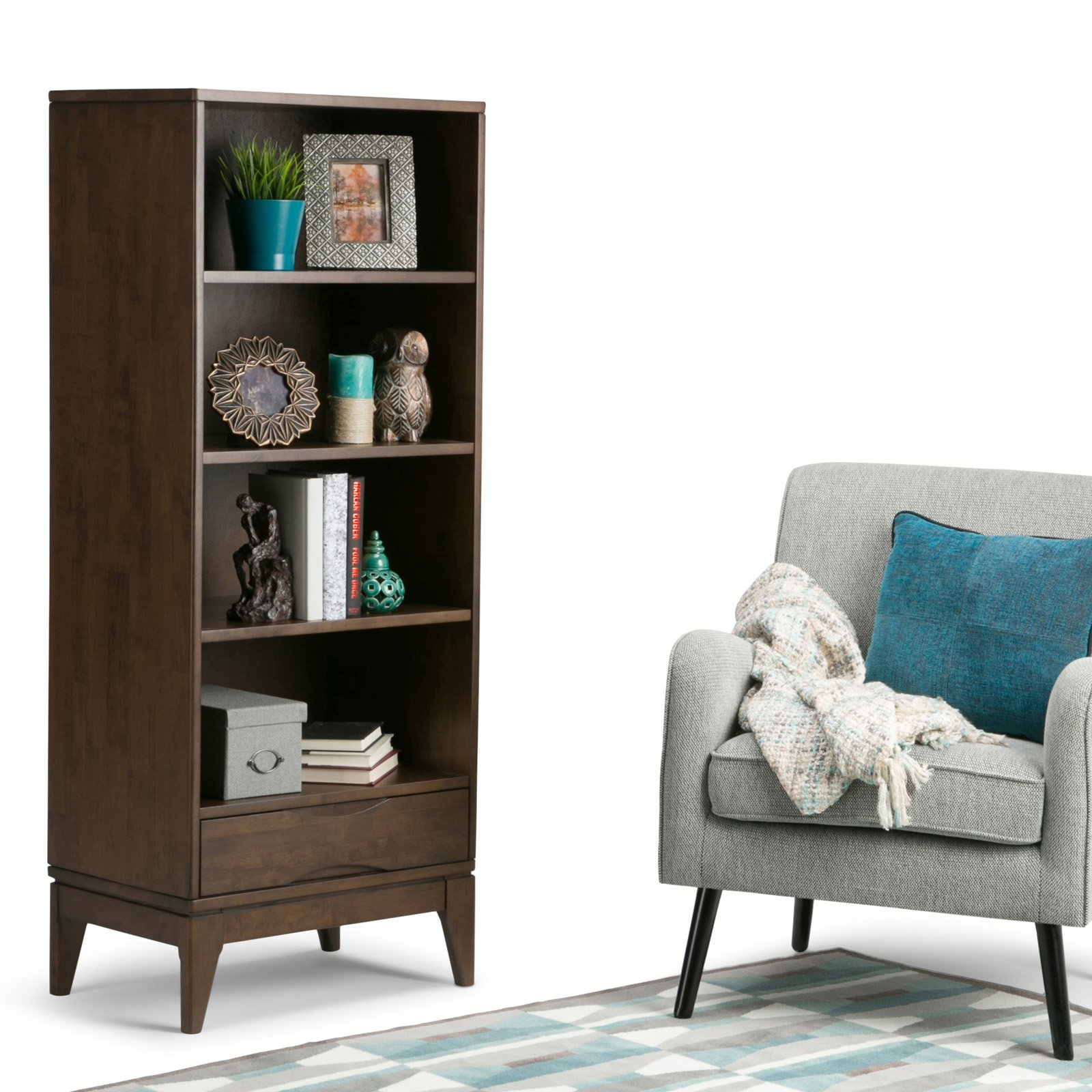 Simpli Home Harper Bookcase with Storage