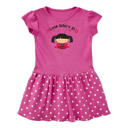 1e6db065b Inktastic - 3rd Birthday Ladybug 3 Year Old Girl Toddler Dress - Walmart.com