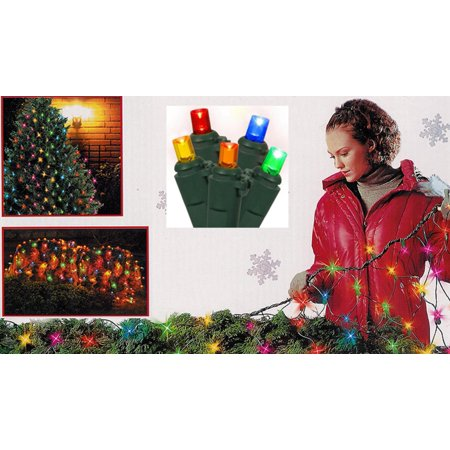 4' x 6' Multi-Color Wide Angle Net Style LED Christmas Lights - Green Wire - image 1 de 1