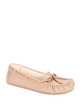 Calistoga Womens Red Velvet Moccasin