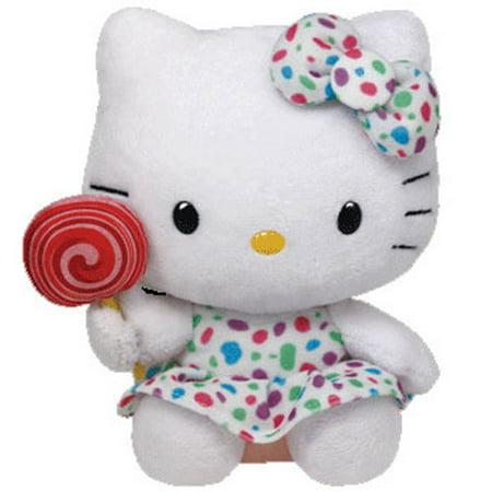 TY Beanie Buddy - HELLO KITTY (LOLLIPOP) (Medium Size - 13 inch)