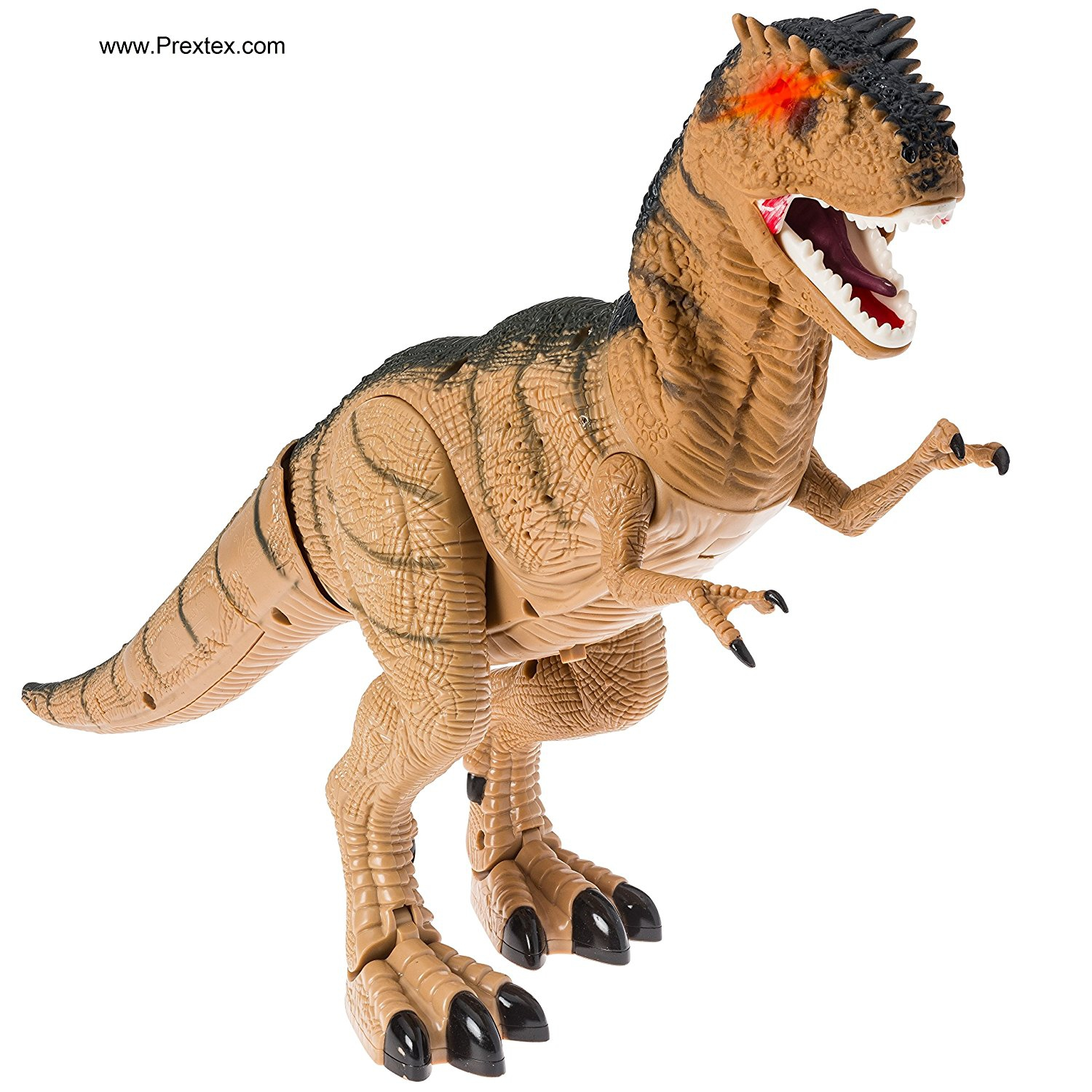 Prextex Battery Powered Walking Dinosaur Toy That Roars And Shakes While Eyes Are Blinking by