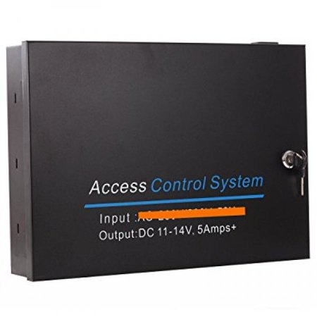 UHPPOTE Input AC 110V to Output DC12V 5A Metal Power Box Supply For Door Access Control Board