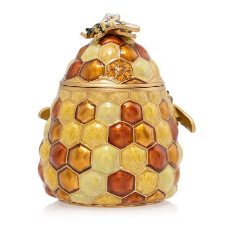 Jay Strongwater Leaf (Jay Strongwater - Porcelain Box - Honey Beehive )