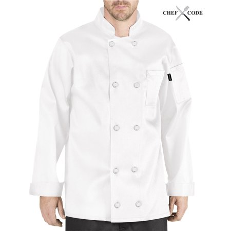 - CHEF CODE Giovanni Classic Chef Coat 100% Cotton Unisex CC119