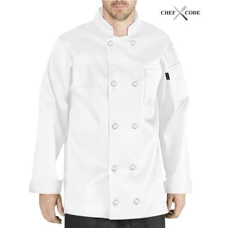 CHEF CODE Giovanni Classic Chef Coat 100% Cotton Unisex CC119 Classic Mens Chef Coat