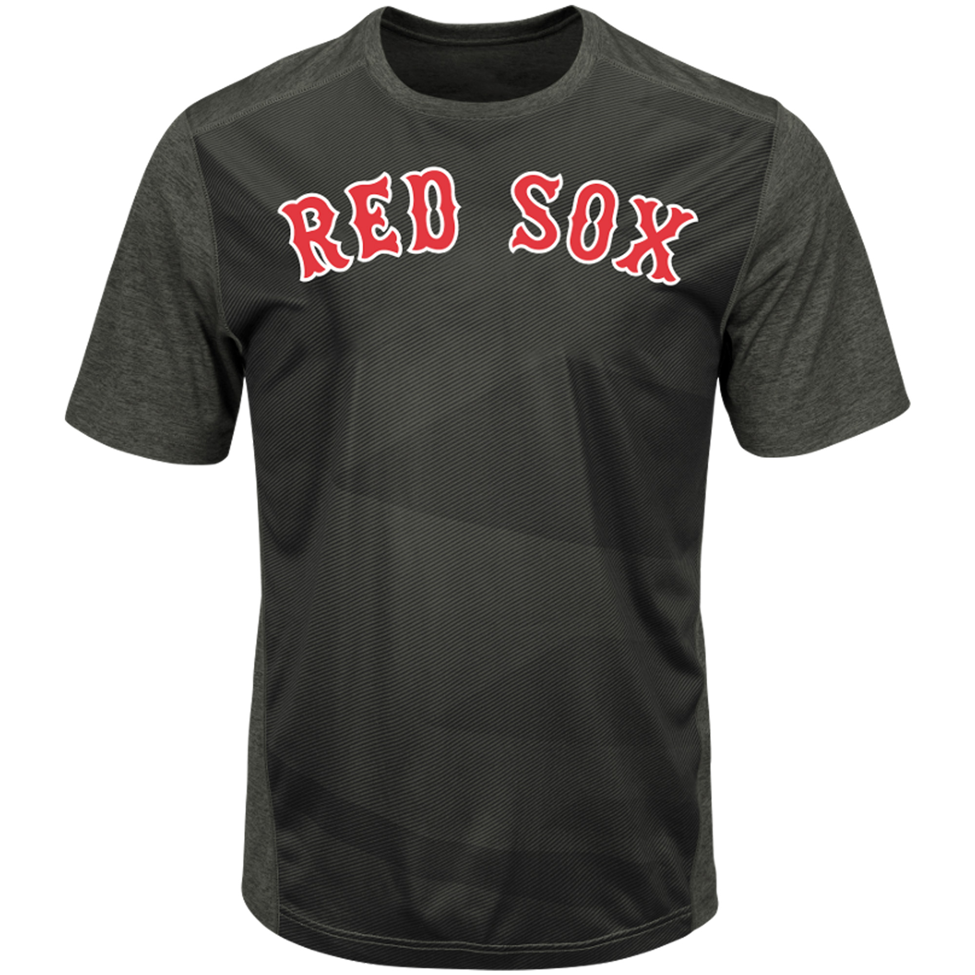 Men's Majestic Black/Charcoal Boston Red Sox Big & Tall Battle Anthem Zephyr T-Shirt