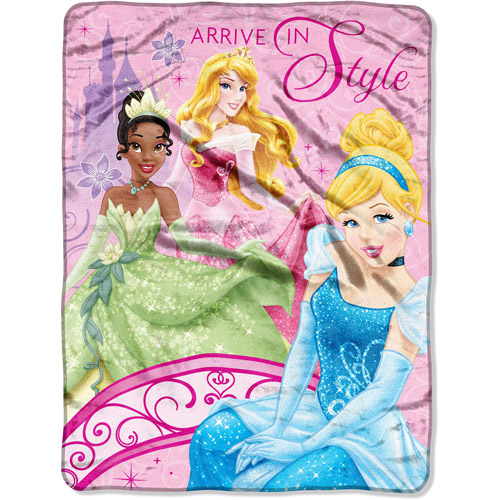 "Disney Princess Royal Arrival 60"" x 46"" Micro Throw"
