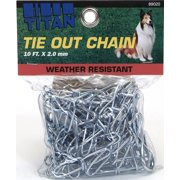 Coastal Pet Products Titan 89020 Assorted Twisted Link Chain Dog Tie Out 2 mm x 10 feet