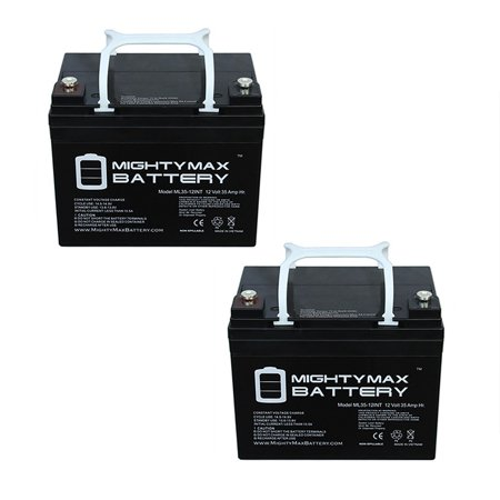 - 12V 35AH INT Battery Replaces Interstate DCM0035 Wheelchair - 2 Pack