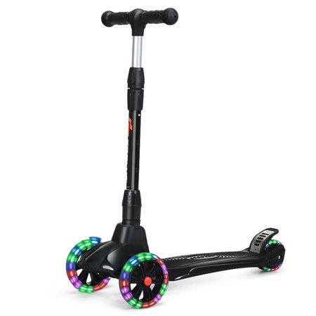 Upgraded Folding Kids Kick Scooter Adjustable Handle 3 LED Wheels for Boys Girls (Prowler 3 Wheel Scooter)
