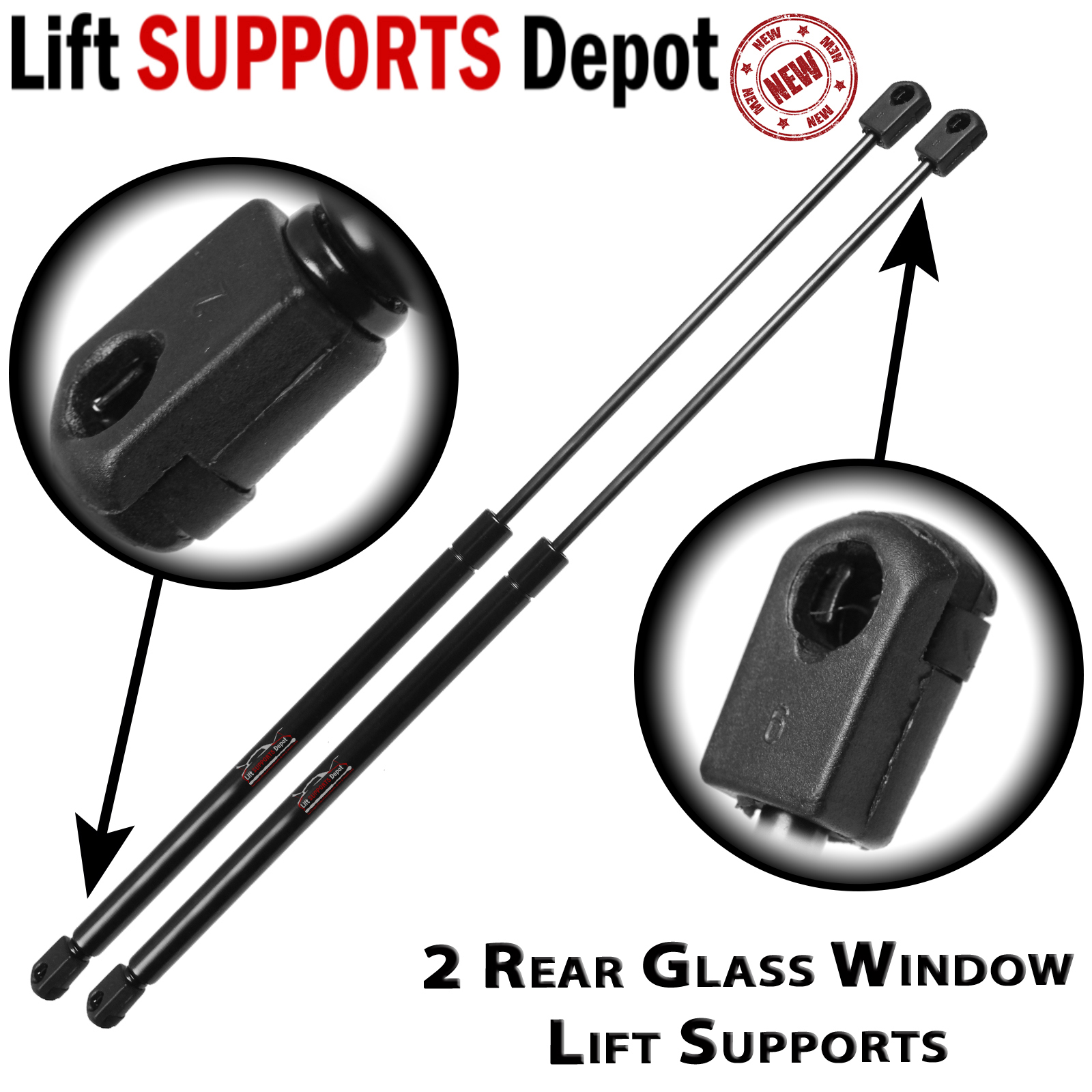 Qty (2) Fits Suburban Tahoe Escalade 2007 To 2011 Rear Window Lift Supports Struts - PM3019