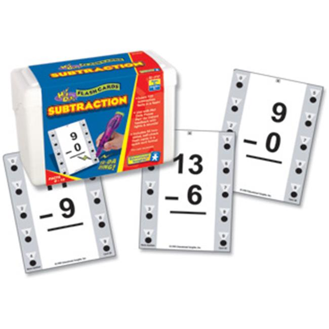 Educational Insights 2757 Hot Dots Math Flash Cards - Subtraction