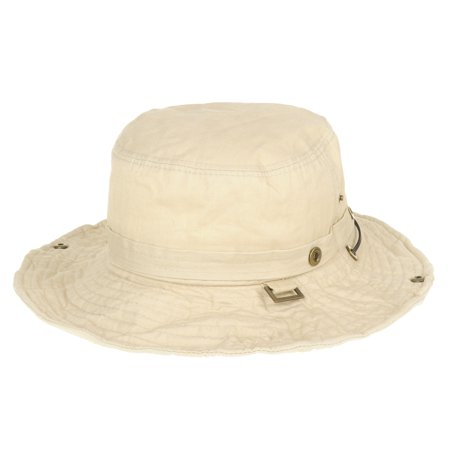 214c8aa6b19 WITHMOONS Boonie Bush Hats Wide Brim Denim Camouflage Side Snap KR8190  (Ivory) - Walmart.com
