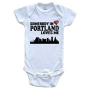 Somebody In Portland Loves Me Baby Onesie