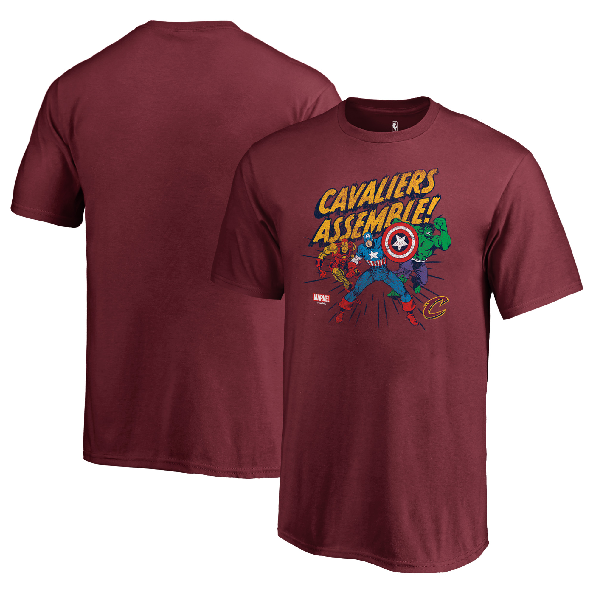 Cleveland Cavaliers Fanatics Branded Youth Marvel Avengers Assemble T-Shirt - Wine