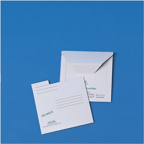Quality Park White Recycled Redi-File Disk Pocket Mailers, 10pk