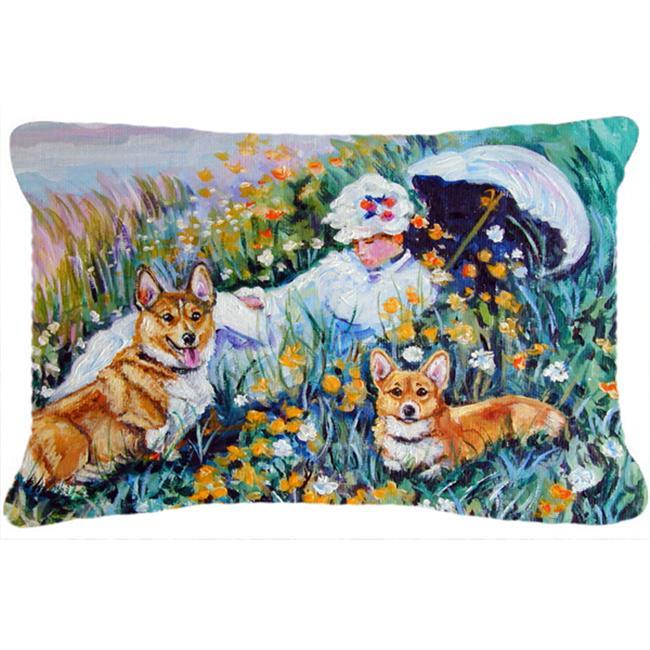 Caroline's Treasures 40PW40 Corgi Classics Fabric Decorative Impressive Multi Color Decorative Pillows