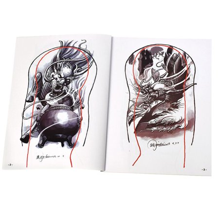Tattoo Supplies References Book Manuscript Sketchbooks Body Art Cool - image 6 of 6