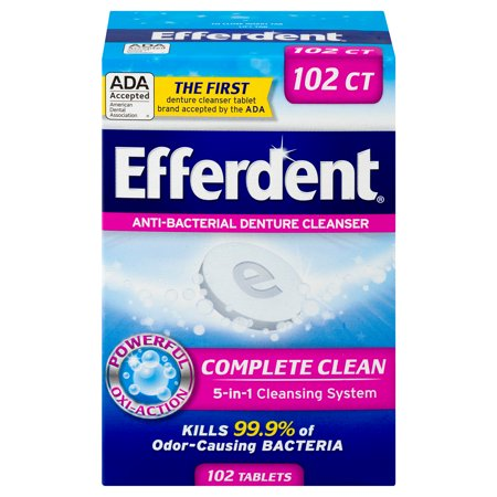 Efferdent Anti-Bacterial Denture Cleanser, 102