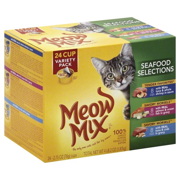 Meow Mix Seafood Selections Variety Pack Cat Food, 2.75 Ounce, 24-Pack by The J.M. Smucker Company