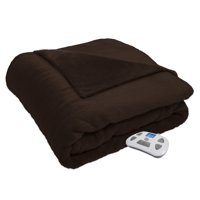 Serta Silky Plush Electric Heated Blanket With Programmable Digital Controller