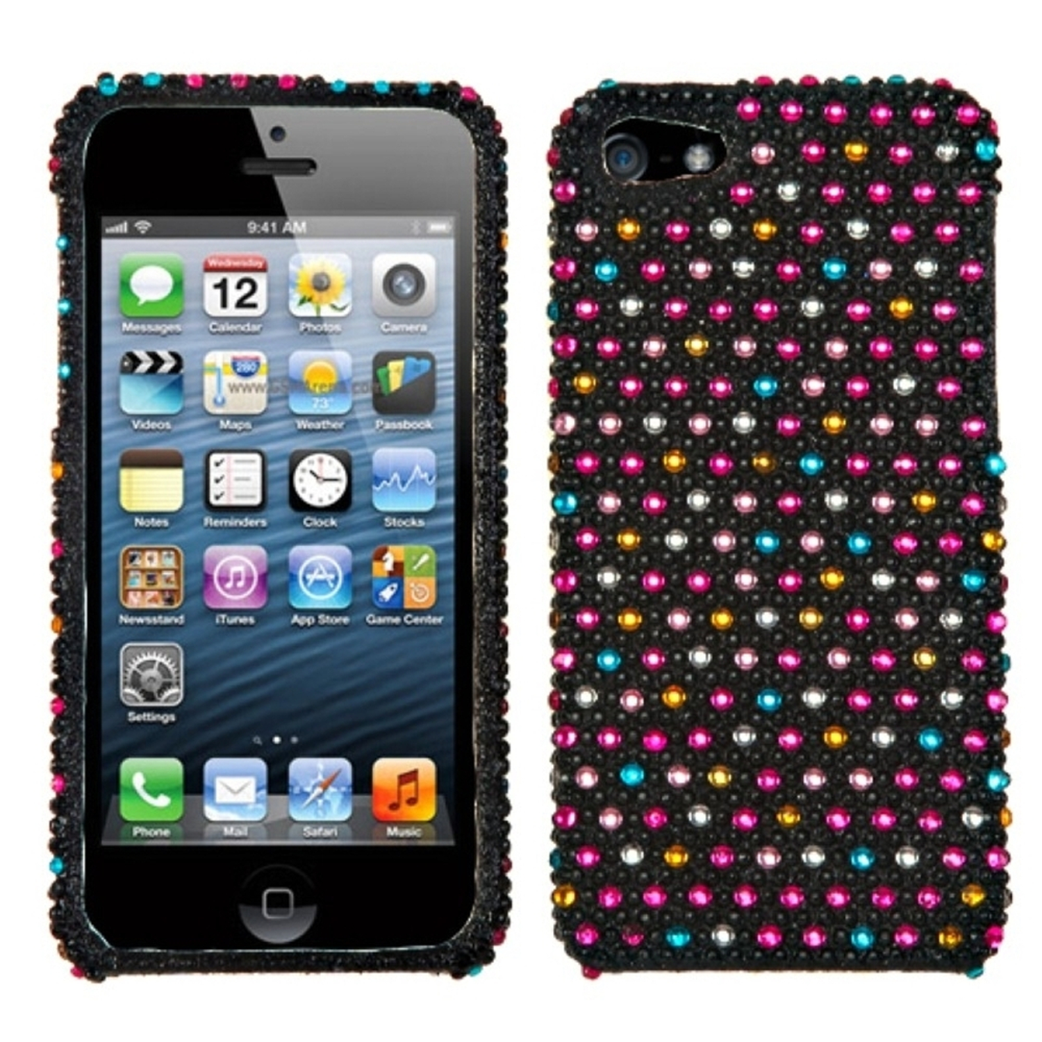 Insten Sprinkle Dots Diamante Phone Case for Apple iPhone SE / 5S / 5