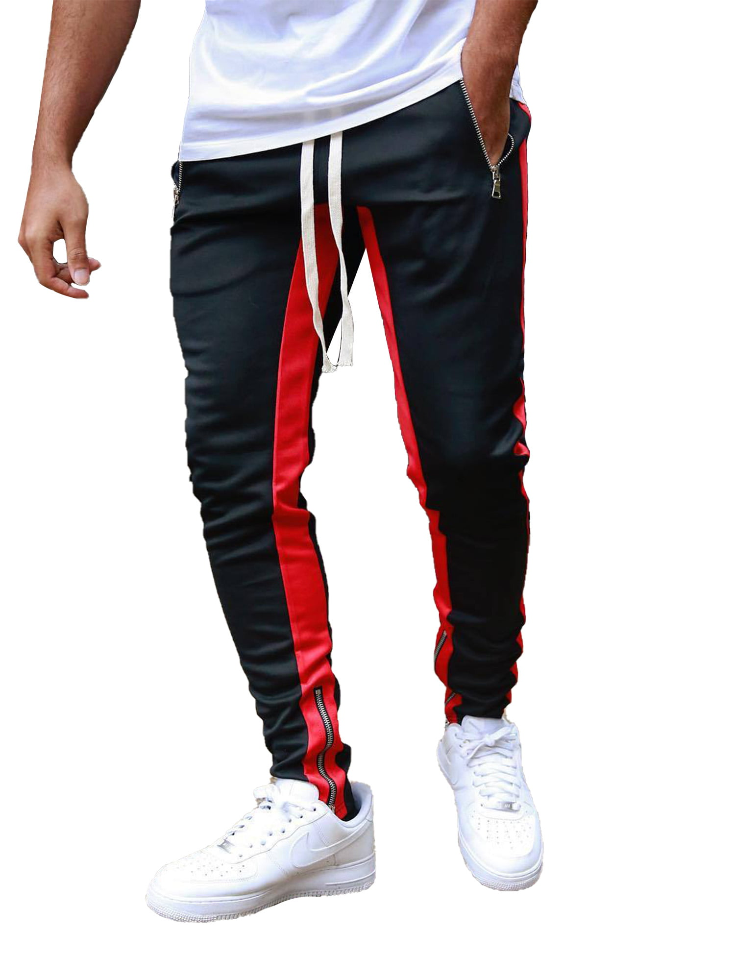 Mens Gym Joggers Sweatpants Workout Slim Fit Running Trousers Pants Bottoms New