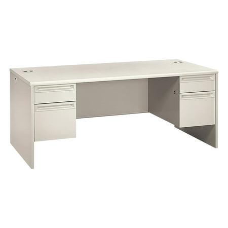 HON 38000 Series Double Pedestal Desk, 72w x 36d x 29-1/2h, Light Gray